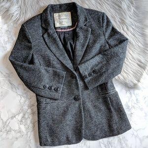 ANTHROPOLOGIE CARTONNIER Knit Tweed Blazer Jacket